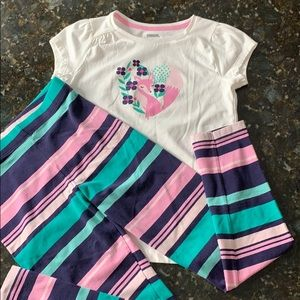 Gymboree Girls shirt & leggings set